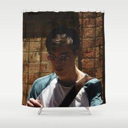 Isaac in Suburbia Shower Curtain