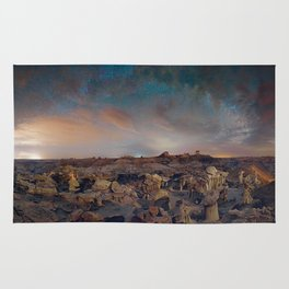 Exploring the Bisti Badlands of New Mexico Rug