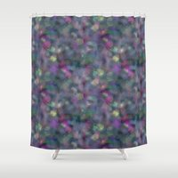 holographic Shower Curtains featuring Dark holographic by ravynka