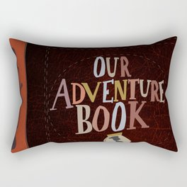 our adventure book leather Rectangular Pillow