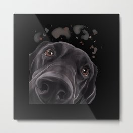 Funny Dog Labrador Retriever Metal Print