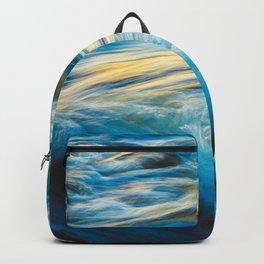Blue Ocean Waves No2 Backpack