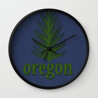 oregon Wall Clocks featuring Oregon by Julie