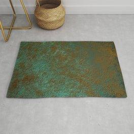 Green Patina Copper rustic decor Rug
