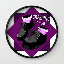 Creeping it Real Wall Clock