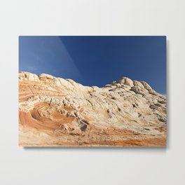 White Pocket 3 Metal Print