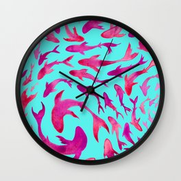 Moving in Unison Wall Clock