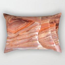 Colorful sandstone in Petra, Jordan (Picture 5) Rectangular Pillow