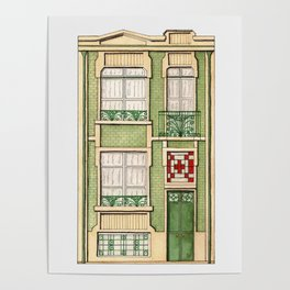 vintage town house Poster