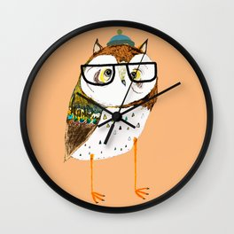 Owl Hipster Wall Clock