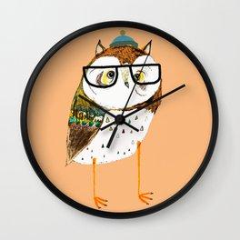 Owl Hipster Wall Clock