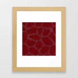 Abstract Skin of the Diamondback Something Framed Art Print