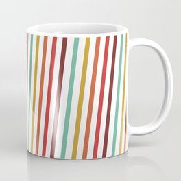 Pink Red Purple Blue Yellow Candy Stripes Linear Pattern Coffee Mug
