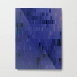 Blurple Blue Purple Digi Fractal Metal Print