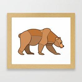 Shapely Brown Bear Framed Art Print