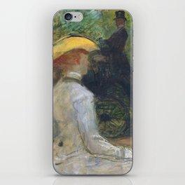 """Henri de Toulouse-Lautrec """"Au Bois de Boulougne"""" iPhone Skin"""