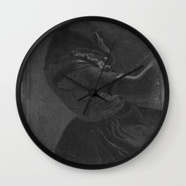 Christen Dalsgaard - Dragt- og bevægelsesstudie af en ung kvinde i bondedragt Wall Clock