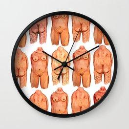 naked bodys Wall Clock