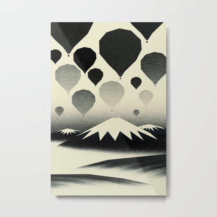 Morning wind balloons Metal Print