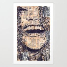Laughing Girl 15# Art Print
