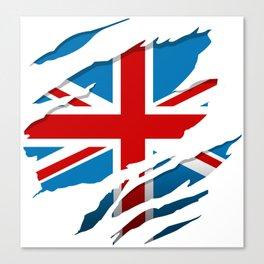 British Flag Pride Canvas Print