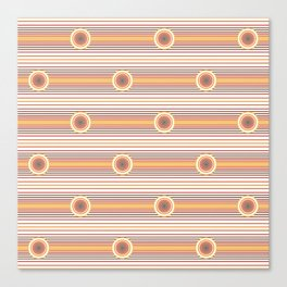 Concentric Circles and Stripes in Fall Colors Canvas Print