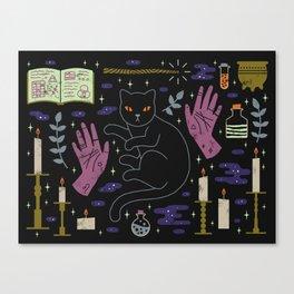 Spooky Horoscopes: Leo Canvas Print