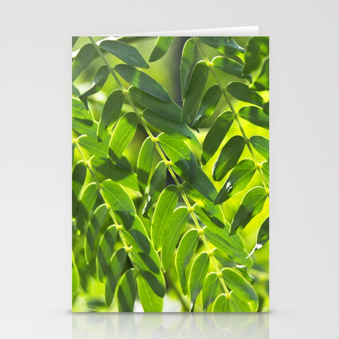 Sunny Leaves Stationery Cards