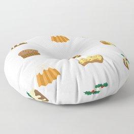 Christmas Cakes Floor Pillow