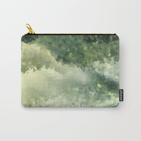 The green background .Storm . Carry-All Pouch