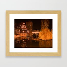 Romantic Nuremberg Bavaria Framed Art Print