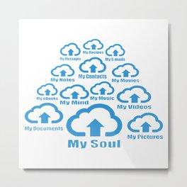 Digital Heaven Clouds Metal Print