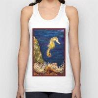 sea horse Tank Tops featuring Sea horse by Michelle Behar