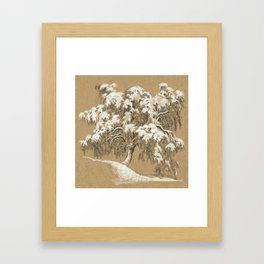 Winter tree 01 Framed Art Print