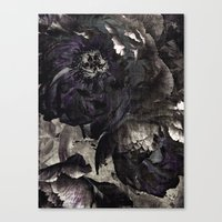goth Canvas Prints featuring goth peony by inourgardentoo
