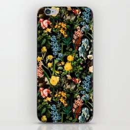 FLORAL AND BIRDS V iPhone Skin