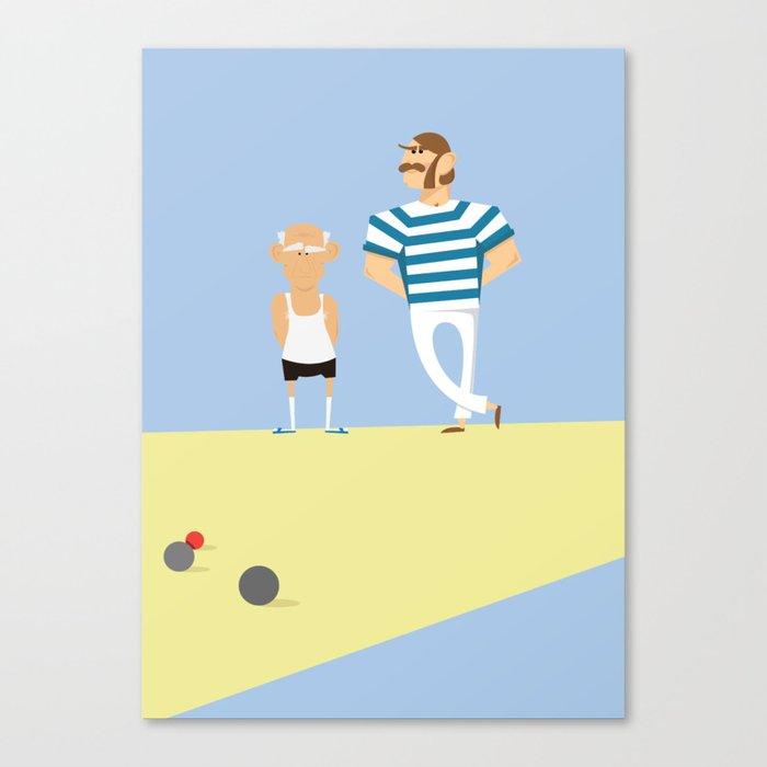 men bowling Canvas Print