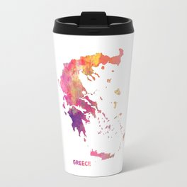 Greece map #greece #map Travel Mug