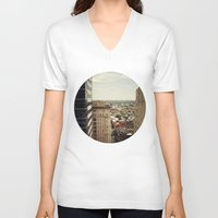 philadelphia V-neck T-shirts featuring Philadelphia  by Kameron Elisabeth