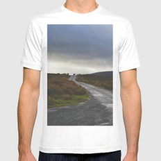 Mountain Road White Mens Fitted Tee MEDIUM