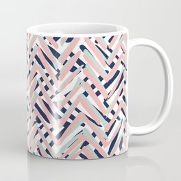 Festive, Boho Art, Tropical, Blue, Coral, Pink, Mint Green Coffee Mug
