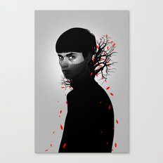 Black & Red Canvas Print