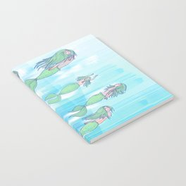 Mermaids dream by day Notebook