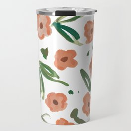 Live Simply Floral Pattern Travel Mug