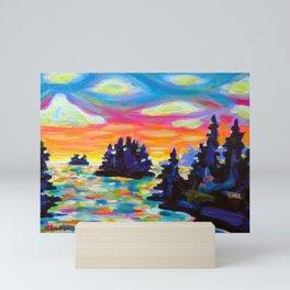 Landscape With Saucers Mini Art Print
