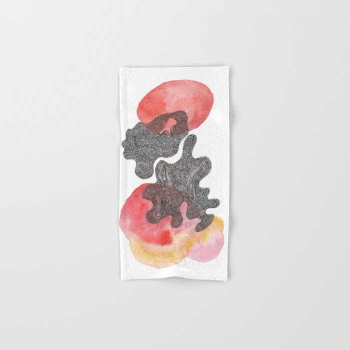 180311 Watercolour Micron 11| Scandi Micron Art Design Hand & Bath Towel