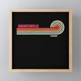 Gainesville Florida City State Framed Mini Art Print