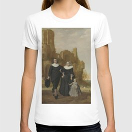 Herman Meynderts Doncker - Portrait of a Family Group in a Landscape T-shirt