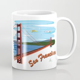 Golden Gate Bridge San Francisco Illustration Coffee Mug