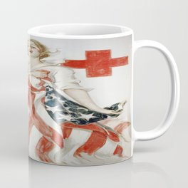 Vintage poster - American Red Cross Coffee Mug